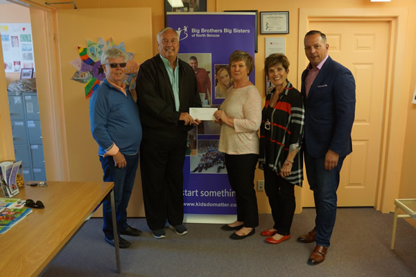 Guys Who Care - Big Brothers Big Sisters of North Simcoe cheque presentation