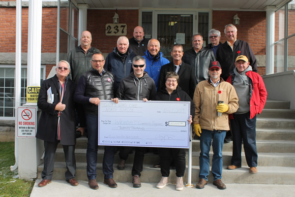 Guys Who Care Cheque Presentation with Wendat Community Programs