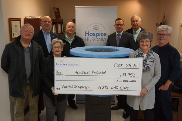 Guys Who Care - Hospice Huronia cheque presentation
