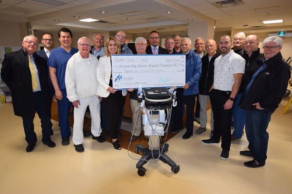 Guys Who Care cheque presentation to GBGH - April 2019